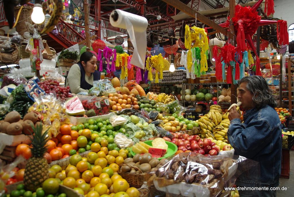 Tropische Früchte nach Herzenslust (Markt in Guanajuato)